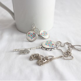 Set náhrdelník a náušnice Folk kľúčik