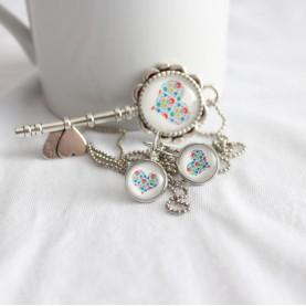 Set náhrdelník a náušnice mini Folk kľúčik