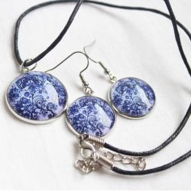 Sada náušnice a náhrdelník - Modrá krása