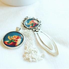 Sada náhrdelník a záložka - Malý princ a líška