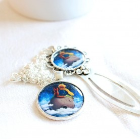 Sada náhrdelník a záložka - Malý princ na planéte