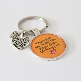 Kľúčenka - Milujem život, lebo mi dal Teba, milujem Teba, lebo si môj život