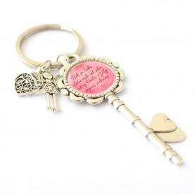 Kľúčenka - Bok po boku alebo míle od seba, sestry budú vždy spojené srdcom
